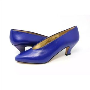 Kenneth Cole New York Women's Blue Leather Pumps